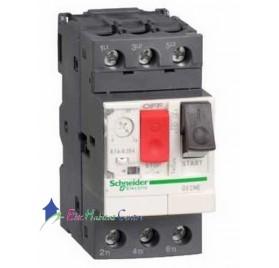 Disjoncteur moteur triphasé réglable de 0.1A à 0.16A Schneider GV2ME01