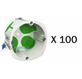 Lot de 100 boitiers simple multifix air profondeur 47mm Schneider IMT35032