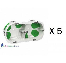 lot de 5 boitiers double multifix air entraxe 71mm profondeur 40mm Schneider IMT35000