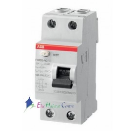 Interrupteur différentiel 63A 30mA type A à vis FH202 ABB 443161