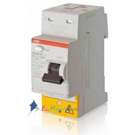 Interrupteur différentiel 63A 30mA type A automatique FH202S ABB 444161