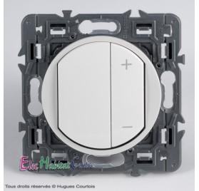 Ecovariateur 150w Céliane blanc sans plaque 67083+65083+80251