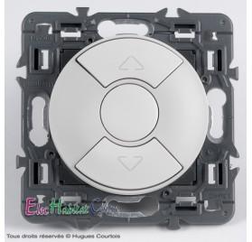 Interrupteur volet roulant Céliane blanc sans plaque 67601+68151+80251