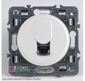 Prise RJ45 catégorie 6 UTP Céliane blanc sans plaque 67344+68237+80251