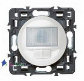 Ecodétecteur 2 fils avec dérogation Legrand Céliane blanc 67026+68026+80251
