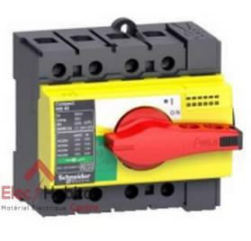 Interrupteur-sectionneur d'arrêt d'urgence tétrapolaire 4P80A INS80 Schneider 28921