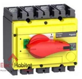 Interrupteur-sectionneur d'arrêt d'urgence tétrapolaire 4P250A INS250 Schneider 31127