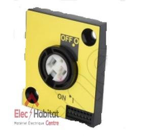 Commande prolongée latérale jaune pour interrupteur-sectionneur INS40 à 160 Schneider 28944