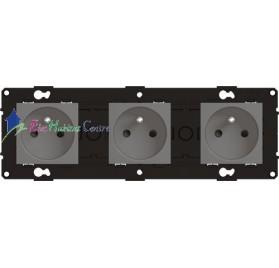 Triple prise 2P+T 16A magnésium Arnould 64233