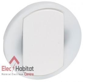 Manette à voyant interrupteur, va et vient ou poussoir couronne lumineuse Céliane blanc Legrand 065004