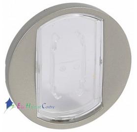Manette interrupteur, va et vient ou poussoir porte-étiquette Céliane titane Legrand 068314