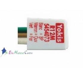 Adaptateur bouton poussoir double R12M Yokis 5454073