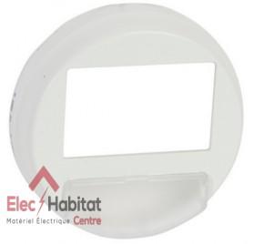 Enjoliveur pour interrupteur automatique de balisage Céliane blanc Legrand 068051