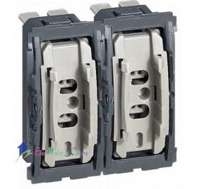 Mécanisme double interrupteur/va et vient 10A Céliane Legrand 067001x2