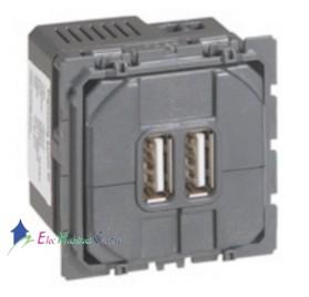 Mécanisme prise chargeur 2 USB 1500mA Céliane Legrand 067462