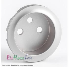 Enjoliveur prise de courant 2P+T standard Céliane titane Legrand 068412