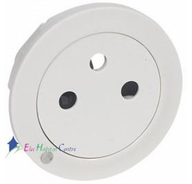 Enjoliveur prise de courant 2P+T à voyant affleurant Céliane blanc Legrand 068115