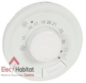 Enjoliveur thermostat d'ambiance fil pilote Céliane 230 V blanc Legrand 068245
