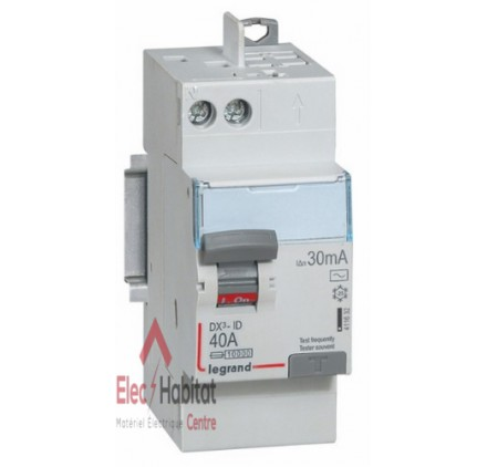 Interrupteur différentiel 2P40A 30mA type AC Vis/Auto Legrand 411632