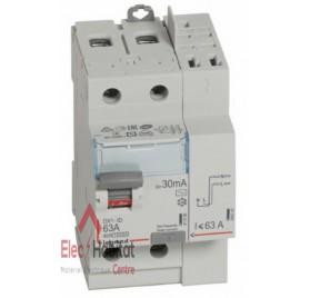 Inter différentiel 2P63A 30mA type AC Vis/Auto Legrand 411633
