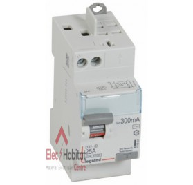 Inter différentiel 2P25A 300mA type AC Vis/Auto Legrand 411634
