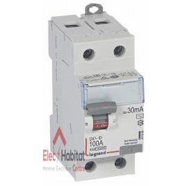 Inter différentiel 2P100A 30mA type AC Vis/Vis Legrand 411508