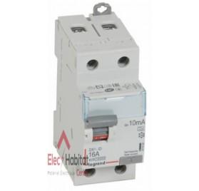 Inter différentiel 2P16A 10mA type A Vis/Vis Legrand 411550