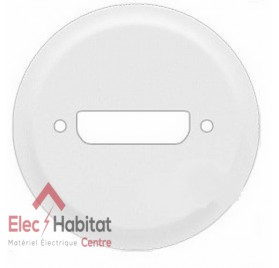 Enjoliveur blanc prise SUB D 9 ou vidéo HD 15 Céliane Legrand 068215