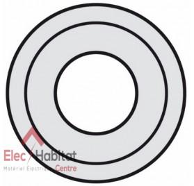 Enjoliveur titane prise XLR femelle 3 pôles Céliane Legrand 068535