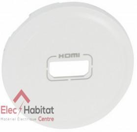 Enjoliveur blanc prise audio/vidéo HDMI 1.3 et 1.4 type A Céliane Legrand 068216
