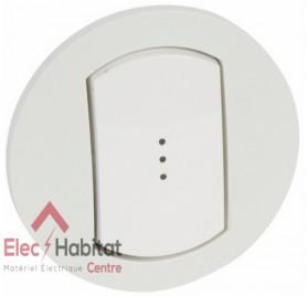 Manette interrupteur, va et vient ou poussoir à voyant IP44 étanche Céliane blanc Legrand 067803