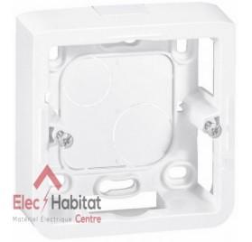 Cadre saillie 1 poste 2 modules profondeur 30mm Mosaic blanc Legrand 080280