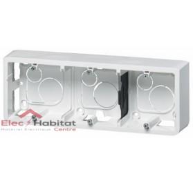Cadre saillie 6, 8 ou 3 x 2 modules profondeur 40mm Mosaic blanc Legrand 080286