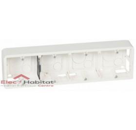 Cadre saillie 10 ou 4 x 2 modules profondeur 40mm Mosaic blanc Legrand 080284