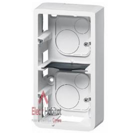 Cadre saillie 5 ou 2 x 2 modules vertical profondeur 40mm Mosaic blanc Legrand 080282