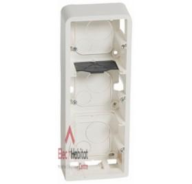 Cadre saillie 3 x 2 modules vertical profondeur 40mm Mosaic blanc Legrand 080283
