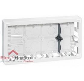 Cadre saillie 2 x 10 modules profondeur 46mm Mosaic blanc Legrand 080278