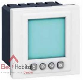 Interrupteur horaire programmable Mosaic blanc Legrand 078425