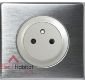 Prise de courant affleurante Céliane aluminium Legrand 067111+068411+080251+068921