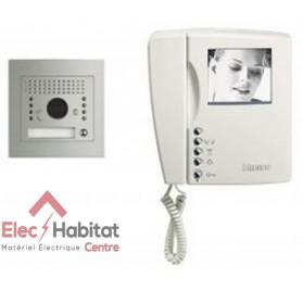Kit interphone vidéo noir et blanc swing 1 appel platine encastrée Coffrel 366311