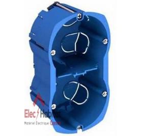 Boitier double horizontal diamètre 67mm, entraxe 71mm, profondeur 40mm, multifix Schneider ALB71332