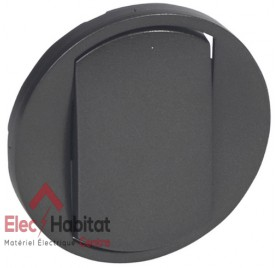 Manette simple pour va et vient bouton poussoir Legrand Céliane graphite 64900