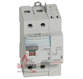 Interrupteur différentiel 2P63A 30mA type AC Vis/Auto Legrand 411633