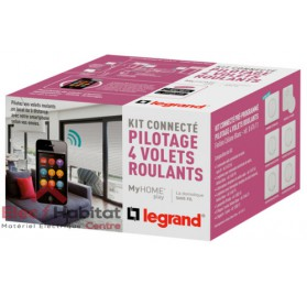 Kit connecté MyHOME Play volets roulant blanc Legrand 067611