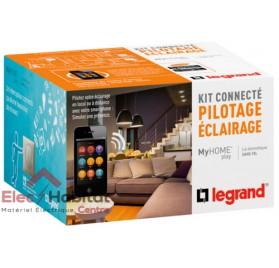 Kit connecté MyHOME Play éclairage titane Legrand 067616