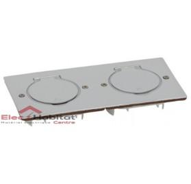 Platine vide carrée double Platinum inox Arnould 48276