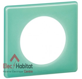 Lot de 10 plaques simple 50's turquoise Legrand 066641