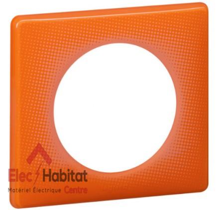 Lot de 10 plaques simple 70's orange Legrand 066651