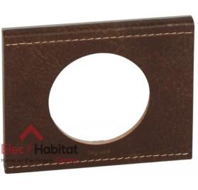 Plaque simple Matière cuir brun texturé Legrand 069401