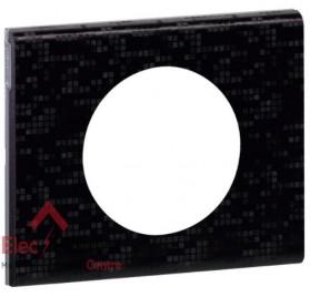 Plaque simple Matière cuir pixel Legrand 069451